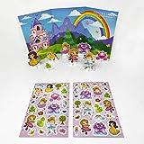 Para jugar con pegatinas para niños y adultos - Escenario Princesa y Castillo - Para libretas, reseñas, actividad manual, bolsita cumpleaños, piñata - Pegatinas geniales para recompensar a los peques