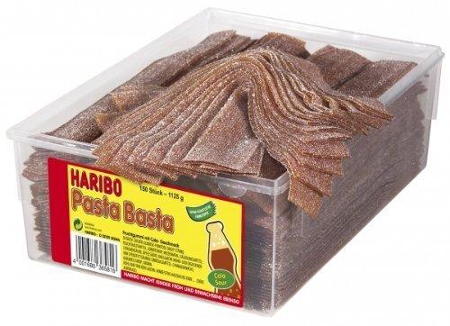 HARIBO - Pasta Basta - Cola Sour - Weingummi - Dose mit 150 Stück
