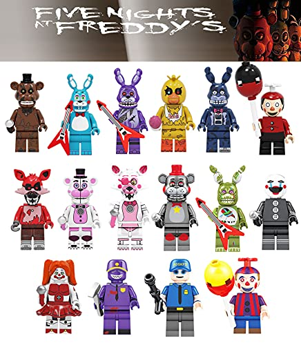 16 Pcs Five Nights at Freddys Action Figures Play,Bunny Fox Pirate Freddy Five Nights at Freddy