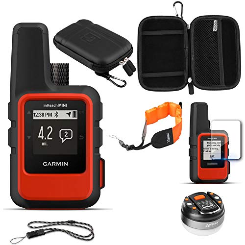 Garmin inReach Mini GPS (Orange) with Accessories Bundle