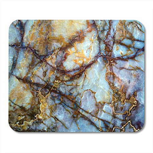AOHOT Mauspads Red Gold Unique of Natural Stone Marble Onyx Granite Brown White Masterpiece Mouse pad 9.5