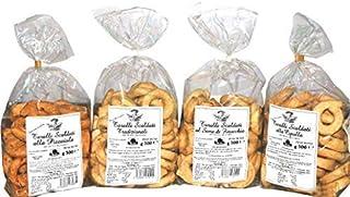 4 Pacchi Taralli Scaldati Bell'Olio di Puglia   Prodotto da forno ideale per snack   Vi proponiamo: taralli all'olio, al s...