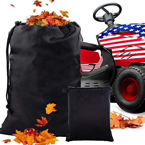 ORTIGIA Lawn Tractor Leaf Bag Grass Catcher Bag 54 Cubic Feet Standard Mower Leaf Bag Lawn Sweeper Tow Behind,Collecting Leaves Waste Bag Fits All Lawn Tractors