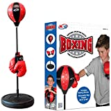 NSG Punching Bag and Boxing Gloves Set for Kids - Freestanding Base Punching Ball with Spring Loaded...