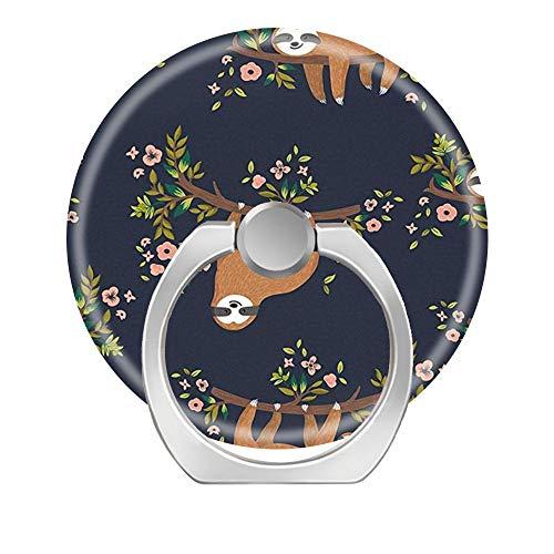 Phone Ring Bracket holder, Square Finger Grip Stand Holder Ring Car Mount Phone Ring Grip Smartphone Ring stent Tablet-Pretty Floral Lazy Sloths