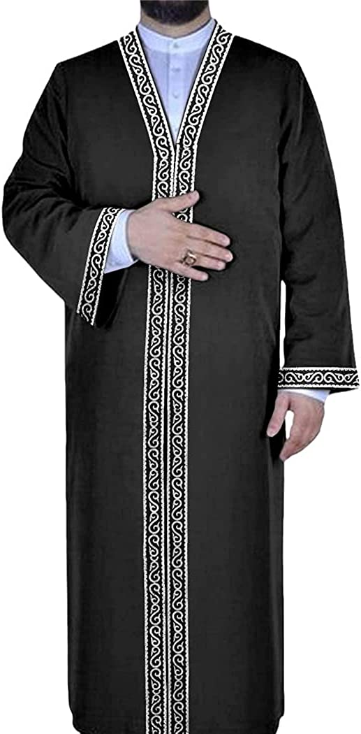 Muslim Fashion for Men Pakistan Dealing full price reduction Thobe with Sleeves Trust Long Jubba