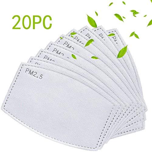 20 filtros de carbón activado reemplazables, 5 capas,