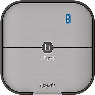 Orbit B-hyve 57925 Smart 8-Station Wi-Fi Sprinkler System Controller, 8-Zone, Gray