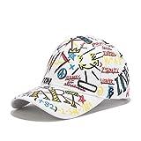 BOIPEEI Casquette Cap Accesorios de Moda Sombrero de Mujer Sombrero de béisbol Ajustable Algodón Hip Hop Sombrero Unisex Sombrero Estampado Personalidad Graffiti Sombrero de béisbol