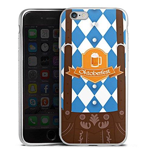 DeinDesign Apple iPhone 6s Silikon Hülle Silber Case Schutzhülle Oktoberfest Lederhose Bier