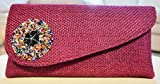 Plum Clutch Purse| Beaded Clutch Bag| African Handmade| Great for occasions