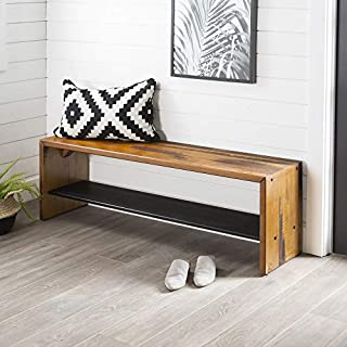 Rustic Solid Wood Entryway Dining Bench (B075V8BZJT) | Amazon price tracker / tracking, Amazon price history charts, Amazon price watches, Amazon price drop alerts