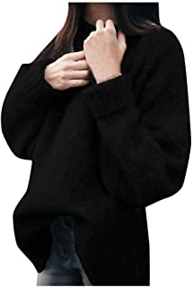 VJGOAL Mujer Jerséis Otoño Invierno Moda Casual Sólido Conejo Suéter de Terciopelo Elegante Jersey Suelto O Cuello Manga L...