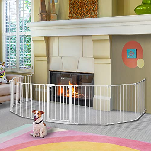 198 inch Dog Gate Extra Wide Tall Pet Gate for...