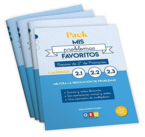 Pack Mis Problemas Favoritos: Repaso 2º PRIMARIA. Mejora la resolución de problemas de matemáticas (Niños de 7 a 8 años)