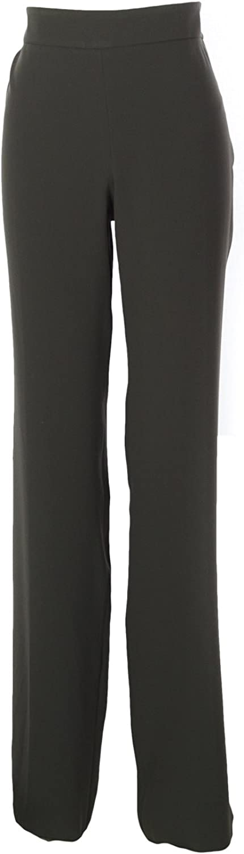 ARMANI COLLEZIONI Women's Unhemmed Dress Pants IT 48 Dark Grey