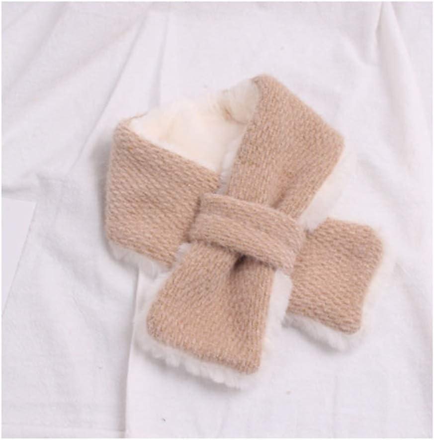 HJHJ Kids Winter Fashion Scarf Warm Fluffy Plush Thick Toddler Girls Boys Neck Warmer, for Children 12m-4y (Color : Camel)