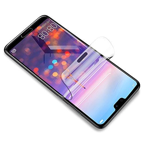 Didisky Pellicola Protettiva per Huawei P20, Copre Assolutamente Lo Schermo, Non Vetro, Compatibile con la Cover, Trasparente, 2 Pezzi