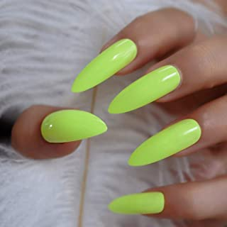 Best neon yellow press on nails Reviews