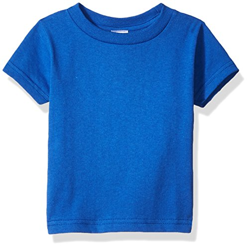 Clementine Baby Infant Soft Cotton Jersey Tees Short Sleeve Crewneck T-Shirt, Royal, 24MOS