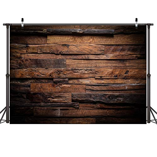 CYLYH 5x3ft Photography Backdrop Brown Wood 3D Backdrops for Picture Customized Vinyl Photo Background D104