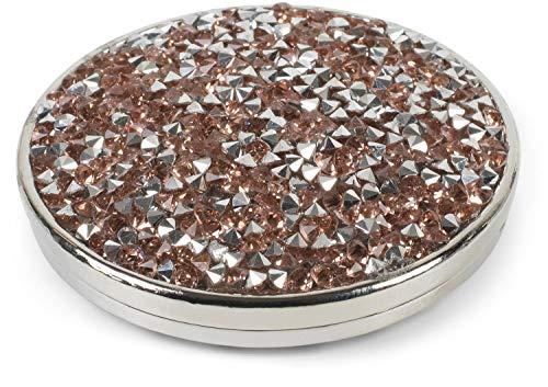 styleBREAKER Damen Magnet Schmuck Anhänger rund mit Strass, für Schals, Tücher oder Ponchos, Brosche 05050074, Farbe:Rosegold