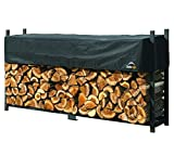 ShelterLogic 8' Ultra-Duty Firewood Rack-in-a-Box Wood Storage with Premium Steel Frame and...
