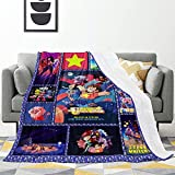 Textured Ste-Ven Uni-Ver_Se Cartoon Super-Soft Fun Fashion Stylish Blanket Bedding for Plush Bed Couch Living Room - 50'X40'