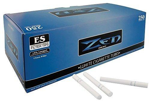 Zen Light King Size Cigarette Tubes (250 ct/box) 10 boxes