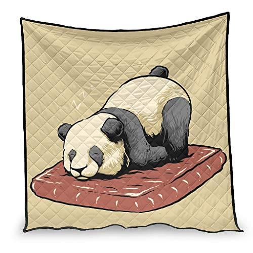 Yzanswer Algodón Pesado Mantas/Quilts Cansado Panda Yoga Ligero Microfibra Manta de lujo para Sofá Cama Sala Blanco 100x150cm