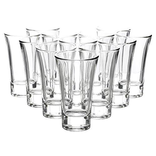 Queensway® - Vasos de chupito de 60 ml, para whisky, vodka,