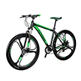 Eurobike BICYCE X9 29inch Mountain Bike 3 spoke wheels 21 Speed Shift Left 3 Right 7 Aluminum alloy frame mountain bike Mountain Bicycle Green