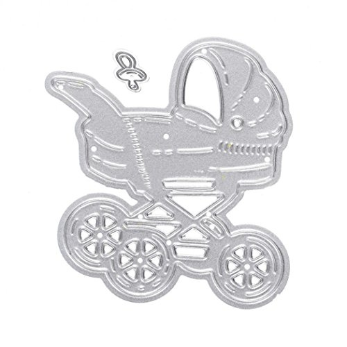 Carbon Stahl Baby Buggy Schnuller Formen Scrapbooking Embossing Schablonen