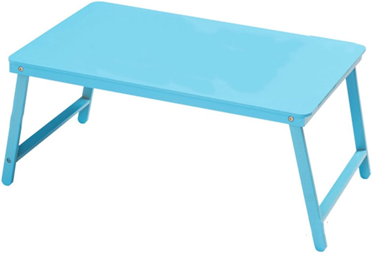 LXF Folding Table Simple Folding Table Bamboo Material Notebook Computer Desk Hostel Lounger Learn Natural Environmental Predection Six colors Optional 60  39cm (color   bluee)