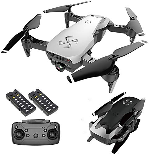 DRONE-CLONE XPERTS Drone X Pro AIR 4K Ultra HD Dual Camera FPV WiFi Quadcopter Follow Me Mode Gesture Control 2 Batteries Included (White)