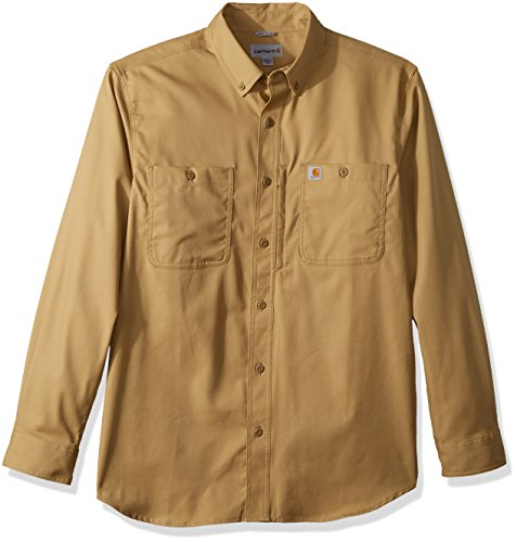 Carhartt Herren Rugged Professional Long-Sleeve Work T-Shirt, Dark Khaki, M