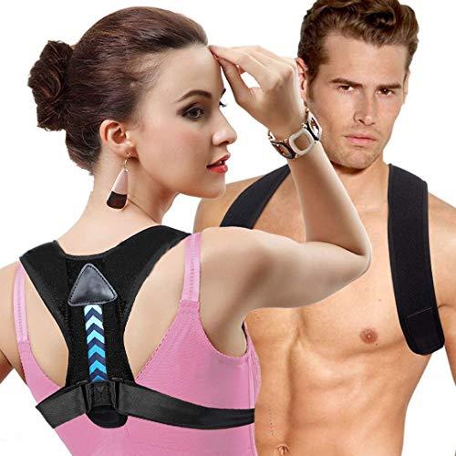 Correcteur de posture Soutien dorsal et correction de posture du dos Renfort Dorsal Respirant Ajustable Soulager les Douleurs Dorsales