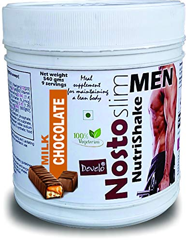Develo Slimming whey Protein shake, Belly Fat Burner, Gym Supplement for Weight Loss in men Nosto-Slim 540gm Powder Milk Chocolate Flavour