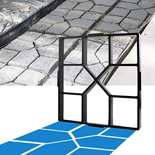CJGQ ANOTHERA 15.7'x15.7'x1.57' Walk Maker Reusable Concrete Path Maker Molds Stepping Stone Paver Lawn Patio Yard Garden DIY Walkway Pavement Paving Moulds (Square)
