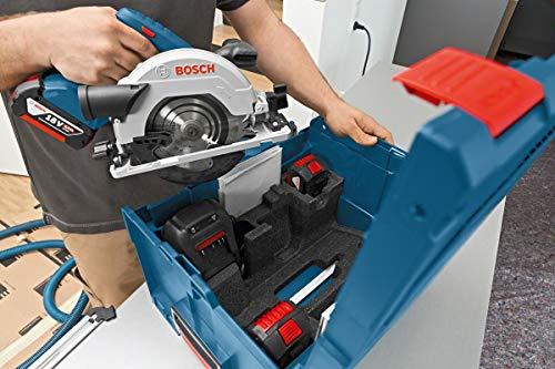 Bosch Professional GKS 18V-57 G Akku-Kreissäge, mit 2 x 18 V 5,0 Ah Akku, Schnitttiefe: 57 mm (bei 90°), L-Boxx, 06016A2100 - 4