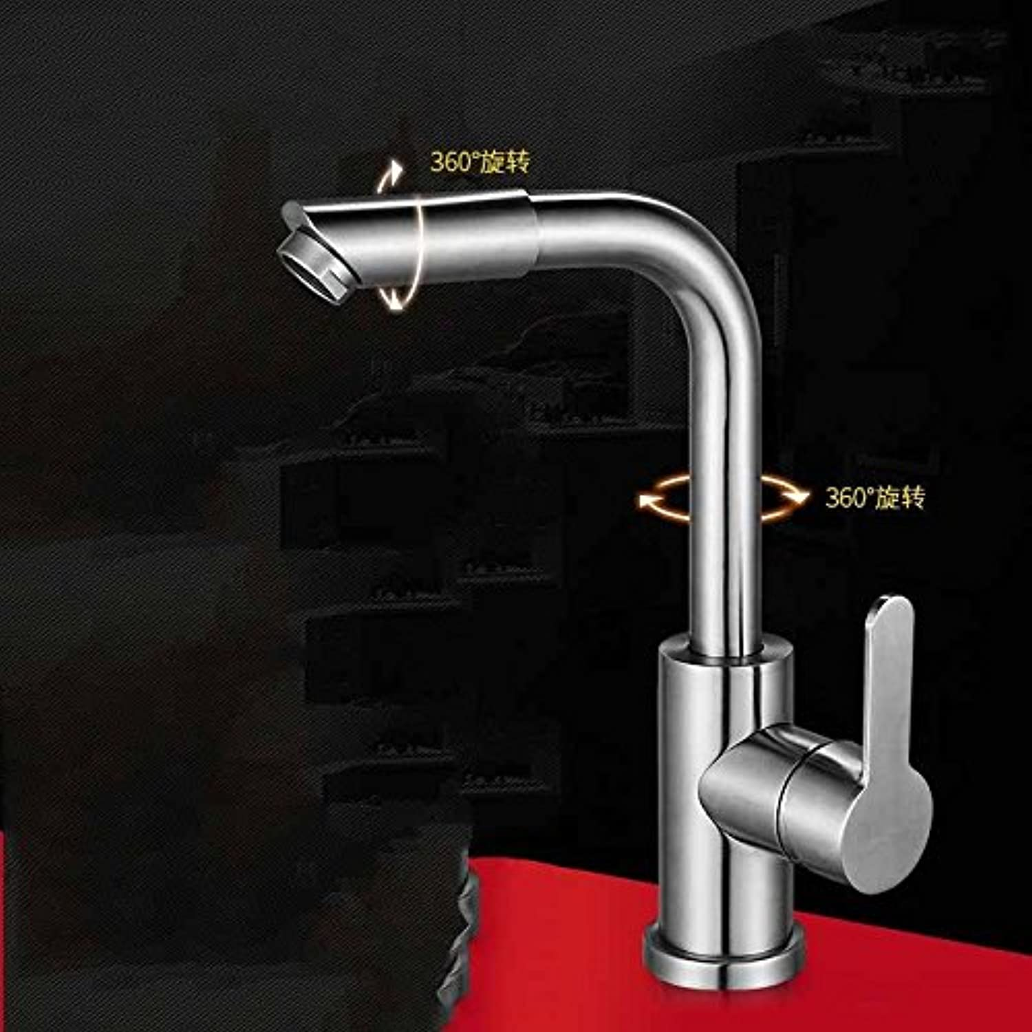 MulFaucet Faucet Water tap Taps Swivel Hoses Kitchen hot and Cold Copper redatable Single Handle Single Hole F