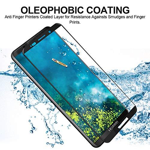 CRXOOX 2 Stück Panzerglas Schutzfolie für Huawei Mate 10 Pro Panzerglasfolie - 9H Härte Glas Displayschutzfolie Case Friendly, Anti Fingerprint Ultra Dünn HD Blasenfrei Einfache Montage Folie - 3