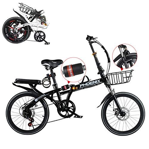 TopBlïng Adulto Bicicleta De Carretera Plegable,Absorción De Impactos,Estudiantes Mini Bicicleta Pulgadas Rueda,Velocidad Variable,Mujeres Bicicleta Plegable para Ciudad Ciclismo Street Conmutar-B