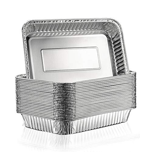 Aluminum Foil Grill Drip Pans - Bulk Pack of Durable Grill Trays – Disposable BBQ Grease Pans