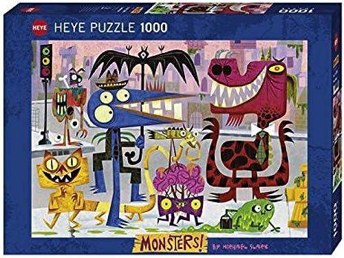 Heye - Heye-29545 - Puzzle Classique - Monstertown - 1000 Pièces