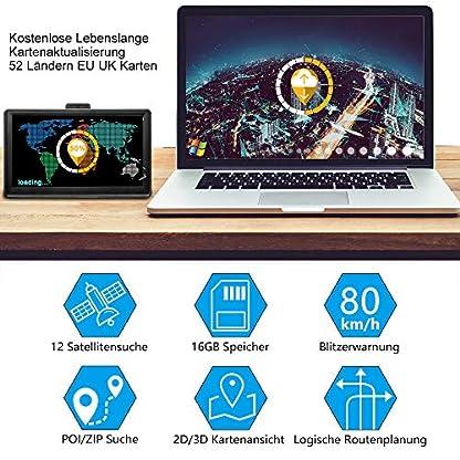 Bluetooth-Navi-Navigationsgeraet-fuer-Auto-LKW-GPS-Navigation-7-Zoll-16GB-Lebenslang-Kostenloses-Kartenupdate-mit-Freisprecheinrichtung-Blitzerwarnung-POI-Sprachfuehrung-Fahrspur-2020-Europa-52-Karten
