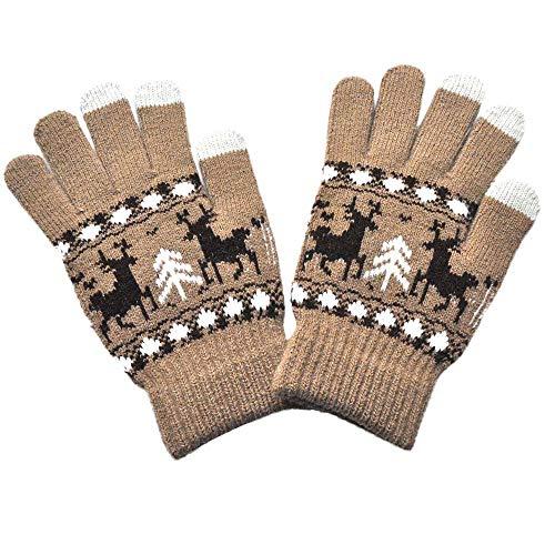 OSYARD Weihnachten Fäustlinge Handschuhe Wollhandschuhe Winterhandschuhe, Männer Frauen Weihnachten Gestrickte Handschuhe Warme Hand-stulpen Handwärmer Wollstulpe Winter Süsser Weicher Gloves