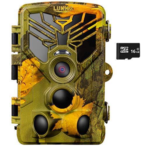 LUNIOX VC24 Wildkamera Fotofalle Digital Full HD bis zu 24MP mit Bewegungsmelder Nachtsicht Schutzart: IP65 Wildlife Jagdkamera