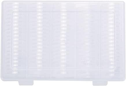Hanbaili Storage Box Universal Display Case with Plastic 100pcs Box Home Exhibitions