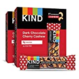 Contains 24 - 1.4oz Dark Chocolate Cherry Cashew Plus Antioxidants KIND Bars Gooey and delicious with bing cherries, whole cashews and almonds drizzled in dark chocolate for that perfect snack fix no matter where your day takes you. A satisfying, nut...